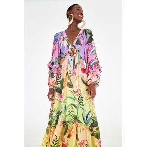RARE Farm Rio Amazonian Ombré Maxi Dress